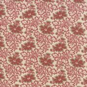 Moda Le Marais by French General - 4340 - Daisy Inspired Floral, French Red on Cream - 13732 16 - Cotton Fabric